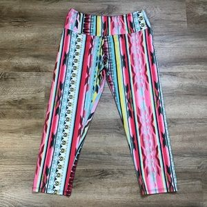 Onzie Leggings Crop AztecBohoTribal Print Size S/M